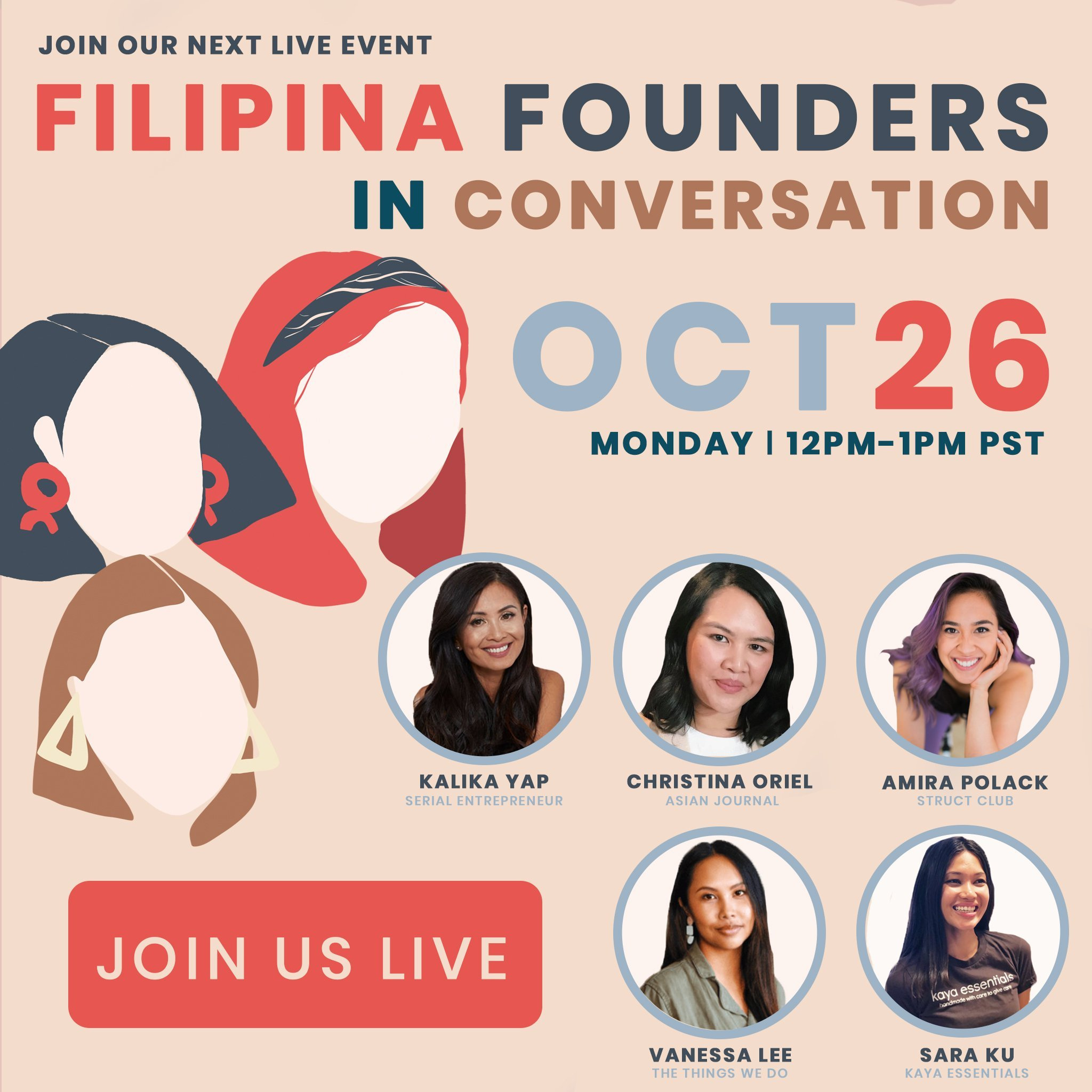 Filipina Founders in Conversation 10/26 event's featured image for kalika.com