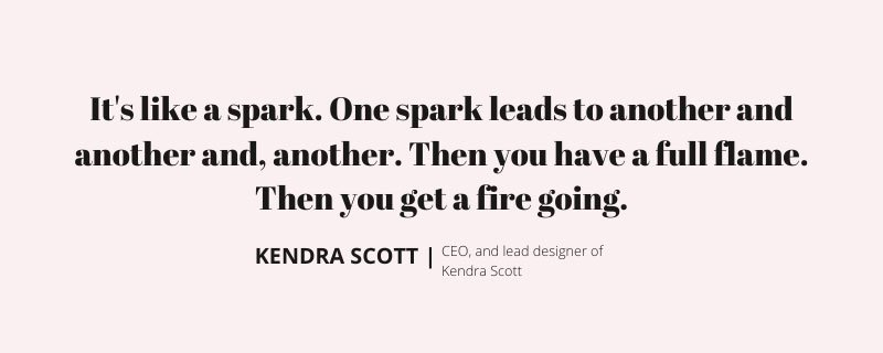 Kendra Scott Image quote for The Billion Dollar Seat for kalika.com