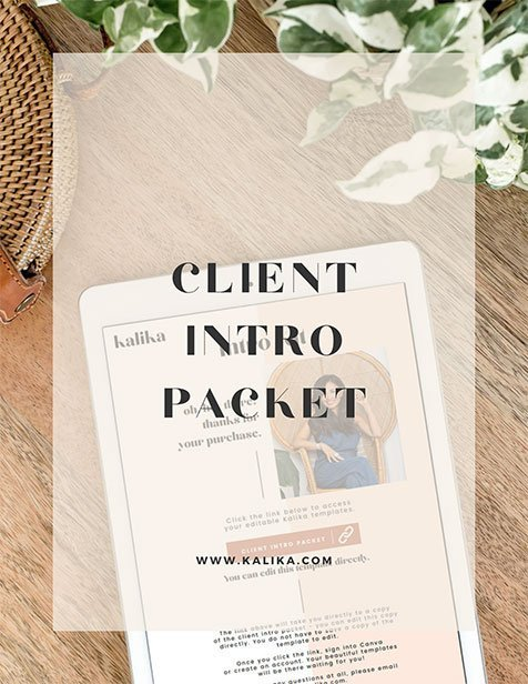 The Intro Kit packet by Kalika Yap for the resources page