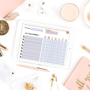 Personalize Checklist Kit - Weekly Chore Chart Planner