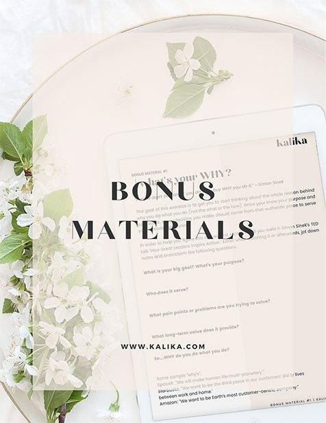 Free Bonus Material by Kalika Yap