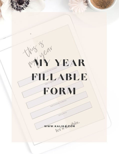 My Year Fillable Form by Kalika Yap for Online Marketing File