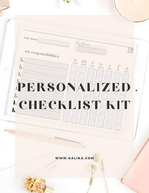 Personalized Checklist Workbook by Kalika Yap